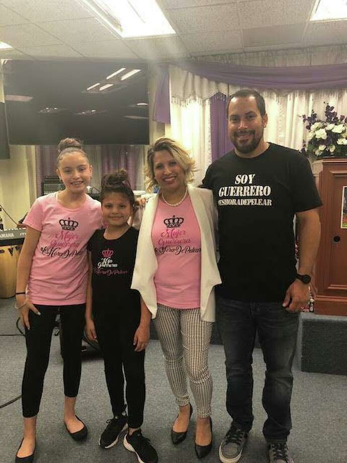 Nildaliz Ramos, third from left, with her daughters, Lizamarie Morales and Nohely Jimenez, and husband, Matthew, are going on a cruise thanks to Treasured Time Photo: Contributed Photo / / Connecticut Post