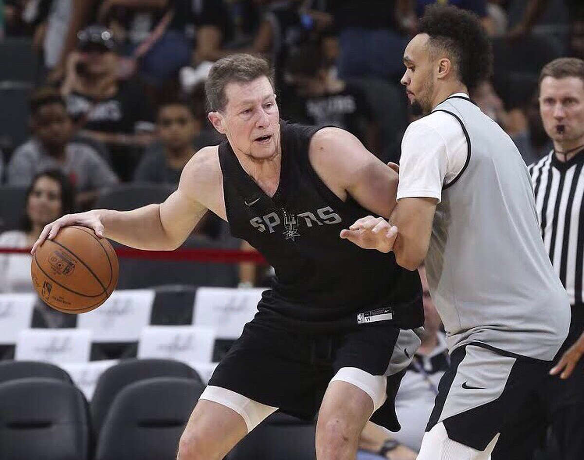 Spurs power forward Drew Eubanks gets the FaceApp