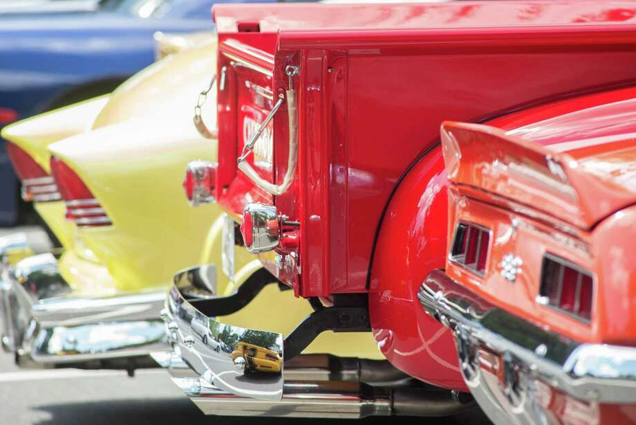 The Memory Lane Cruisers and Lounsbury House co-sponsored a summer car cruise to benefit SPHERE on Sunday, July 14, 2019 in Ridgefield, Connecticut. Photo: Bryan Haeffele / Hearst Connecticut Media / Ridgefield Press