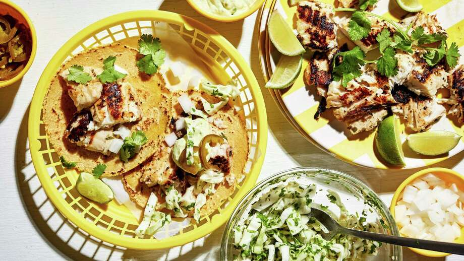 Citrus-Marinated Fish Tacos. Photo: Photo By Stacy Zarin Goldberg For The Washington Post. / For The Washington Post
