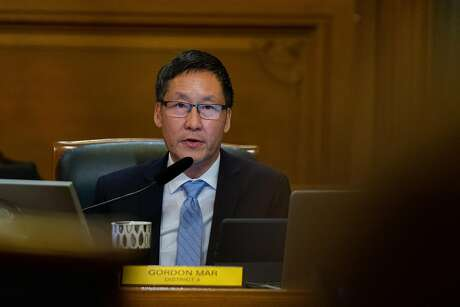 District 4 Supervisor, Gordon Mar, speaks about legislation that would ban the sell of e-cigarettes at City Hall in San Francisco, Calif., on Tuesday, June 18, 2019.
