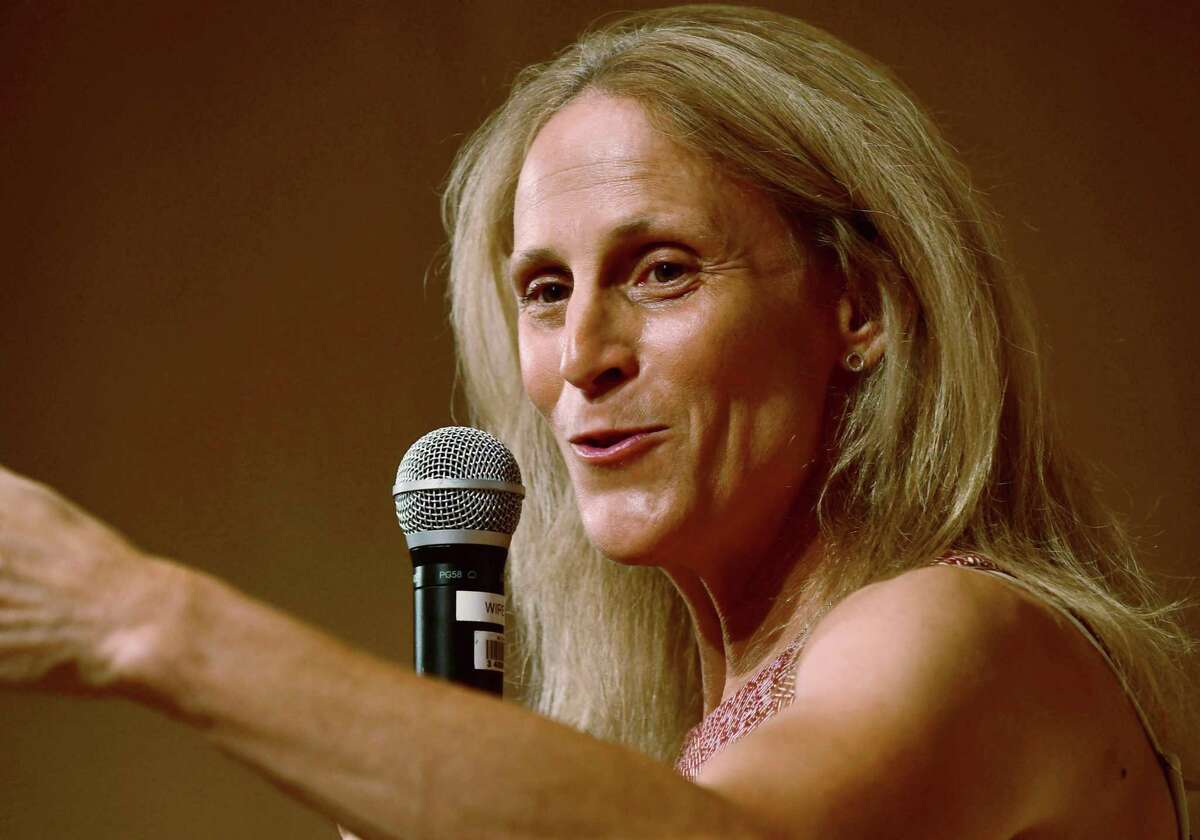 Kristine Lilly speaks at Wilton Library in promotion of her book, PowerHouse.