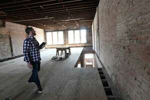 Ed Sturrock gives a tour of the downtown Beaumont building that is being renovated to house the tech company Americommerce. Located at 268 Pearl, the project is expected in be in operation from by year's end. Photo taken 07.02.19