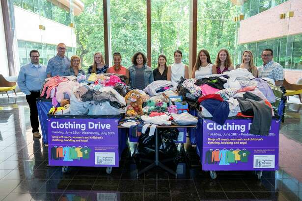 The team at Subway's headquarters in Milford recently collected more than 1,000 pounds of clothing items to help the Big Brothers, Big Sisters, a nonprofit dedicated to developing one-on-one mentoring programs to positively uplift children in the community of Southwestern Connecticut.