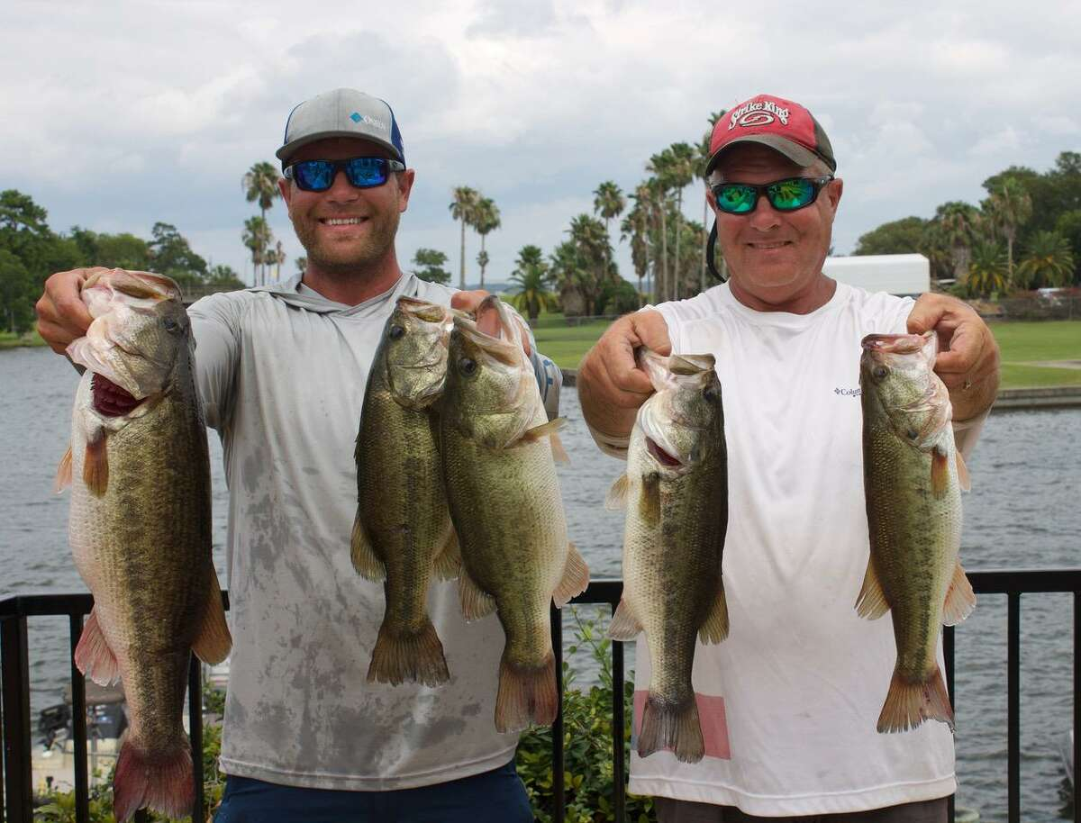 David and Cody Hall came in third place in the CONROEBASS Mid-Day Madness Tournament with a stringer weighing 19.15 pounds.