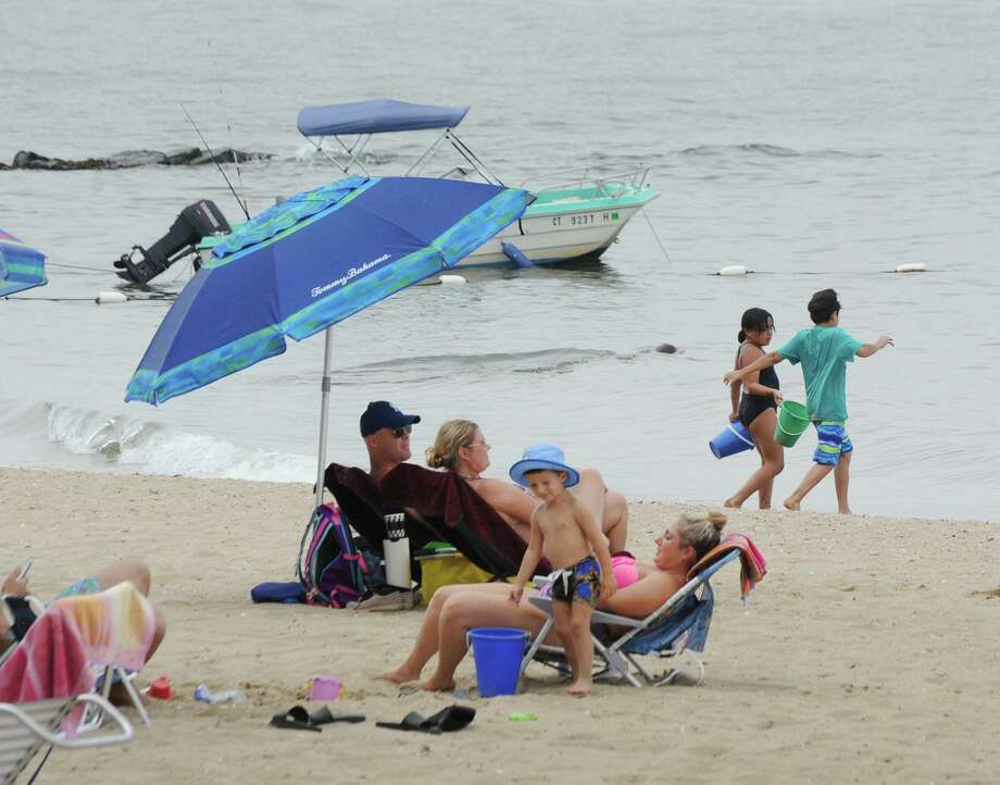 Island Beach off the coast of Greenwich, Conn., Saturday, August 25, 2018. Photo: File / Hearst Connecticut Media / Greenwich Time