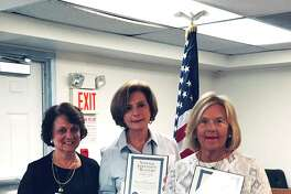 The Ridgefield Board of Realtors recognized four of its members, Carole Cousins, Carol Hanlon, Ellen Stueck and Virginia Beasley (not pictured) at their Town and State Legislative Update meeting on Wednesday for achieving the prestigious Realtor Emeritus status.