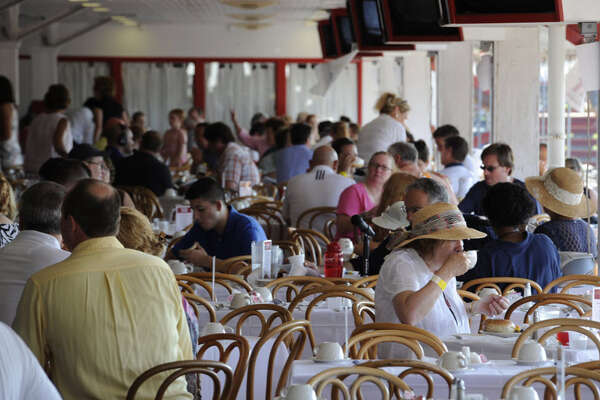 Breakfast at the Saratoga Race Course. (Times Union file photo.)