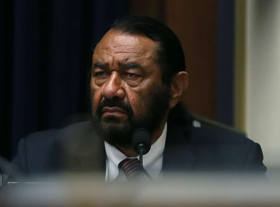 WASHINGTON, DC - JULY 17: Rep. Al Green (D-TX) listens to testimony during a House Financial Services Committee hearing on Capitol Hill July 17, 2019 in Washington, DC. The committee heard testimony on Facebook's proposed cryptocurrency and Its Impact on consumers, investors, and the American financial system. (Photo by Mark Wilson/Getty Images) Photo: Mark Wilson, Getty Images