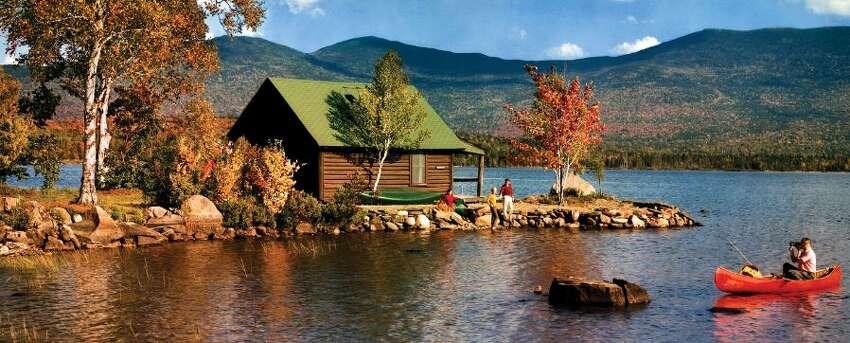 A cabin, camp and canoe in Saddleback, Maine.