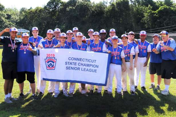 The Stamford Thunder U16 team after winning the Senior Little League state championship on July 13. The team has advanced to the Eastern Tournament in Bangor, Maine, representing Connecticut, and begins play Thursday.