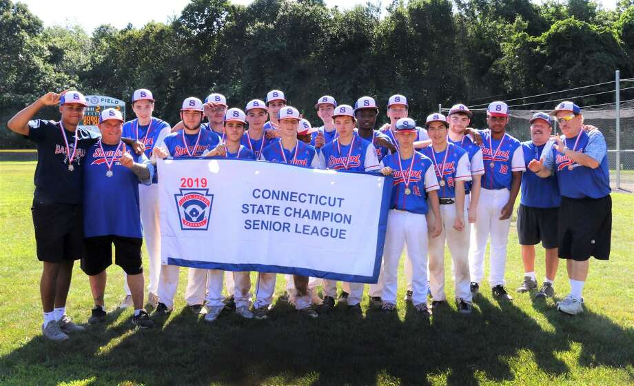 The Stamford Thunder U16 team after winning the Senior Little League state championship on July 13. The team has advanced to the Eastern Tournament in Bangor, Maine, representing Connecticut, and begins play Thursday. Photo: Contributed Photo