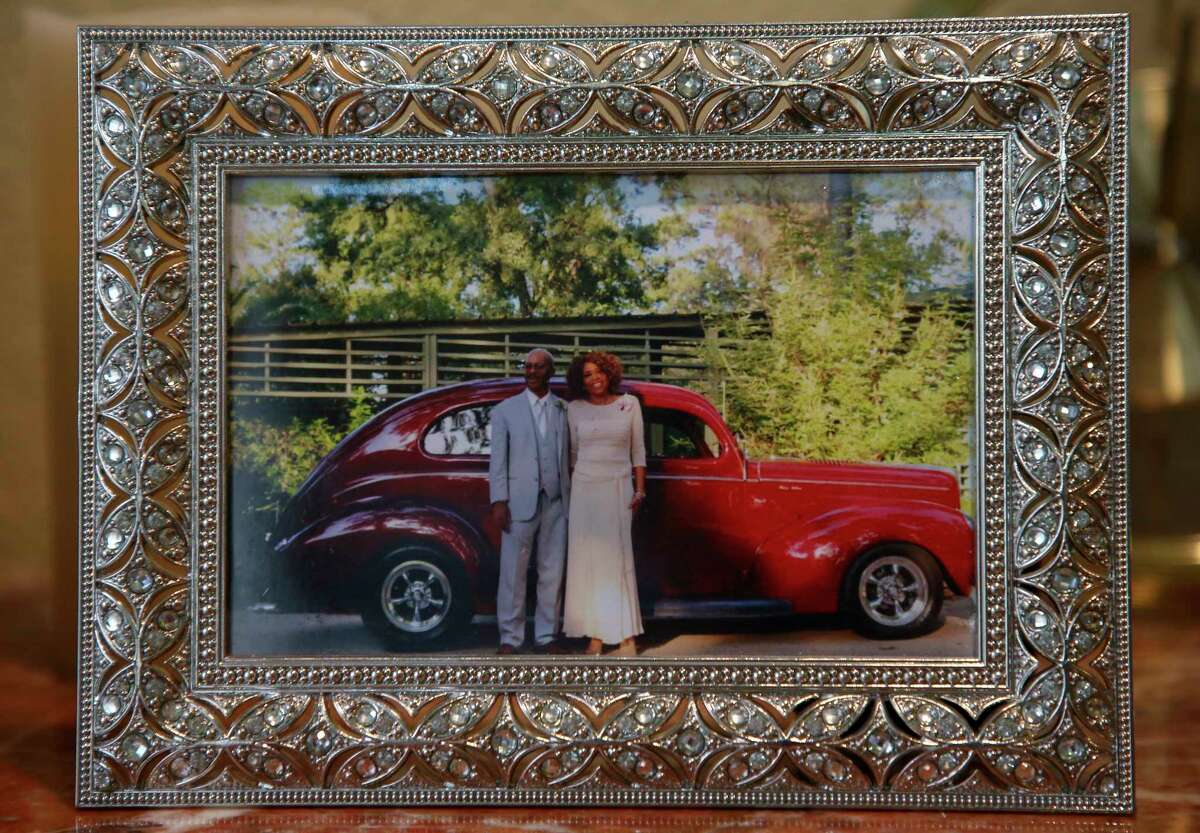 A picture of Cleveland and Saron James the day of their daughter's wedding shooting. The James were driving home from a doctors appointment on Old Greenhouse Road when they were shot at during a drive-by shooting. She was 62.
