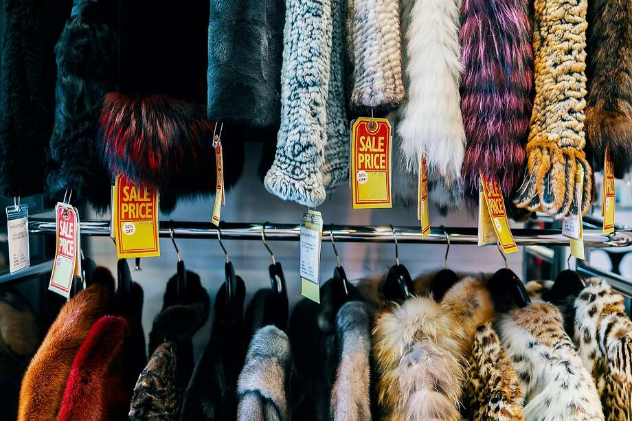 Furs of all kind line the walls of Beverly Hills fur retailer David Appel. Photo: Bethany Mollenkof / Special To The Chronicle