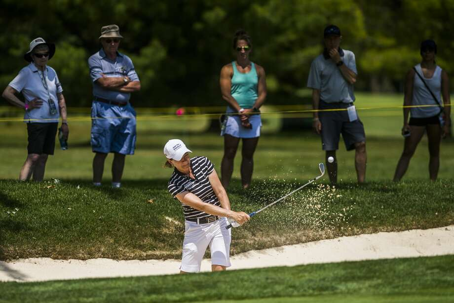 Catriona Matthew of Scotland plays in the first round of the Dow Great Lakes Bay Invitational on Wednesday, July 17, 2019 at Midland Country Club. (Katy Kildee/kkildee@mdn.net) Photo: (Katy Kildee/kkildee@mdn.net)