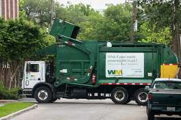 Officials at The Woodlands Township are urging residents to be extra diligent and use caution with their home trash and waste after two Waste Management trash trucks in the Greater Houston region caught fire in recent weeks after improperly disposed of flammable items ignited. John Geiger, director of the environmental services department for the township, said while no Waste Management trash trucks have caught fire in The Woodlands, that has happened twice in the past three years and after the incidents in the Houston region, more precaution is being recommended. ( Godofredo A. Vasquez / Houston Chronicle )