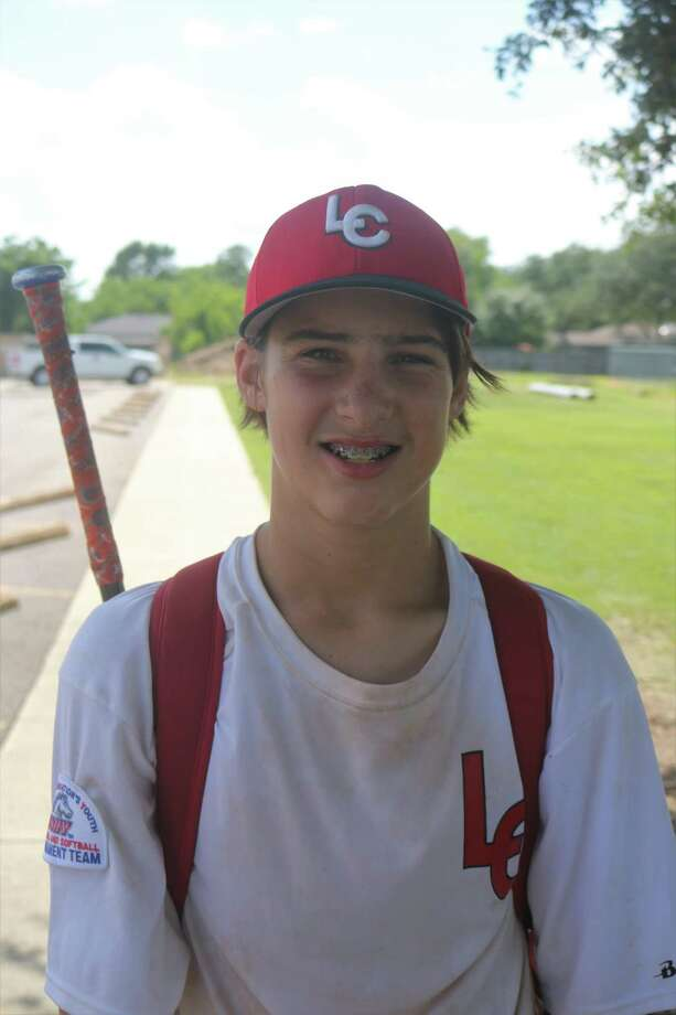 League City 13s All-Star pitcher Peyton Miller toiled in Wednesday afternoon's hot sun to the tune of 95 pitches. But he got the win and his teammates are one step closer to going to California next week. Photo: Robert Avery