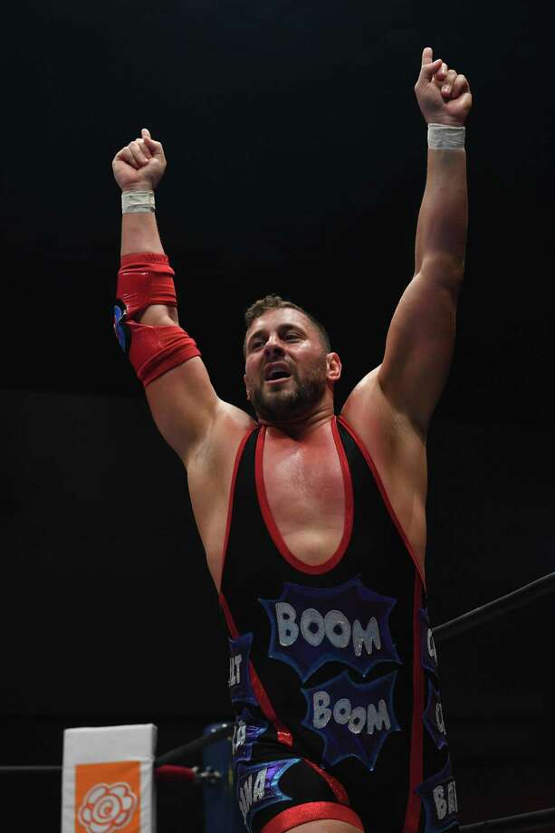 Colt Cabana enters the ring during the New Japan Cup of NJPW at Aore Nagaoka on March 24 in Nagaoka, Japan. Photo: Etsuo Hara /Getty Images / ETSUO HARA
