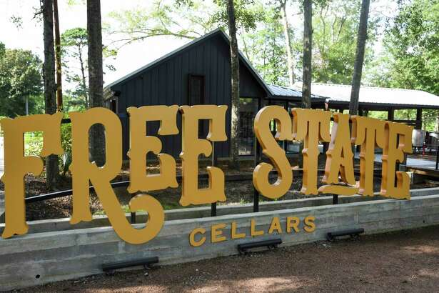 Free State Cellars signs sit in front of the winery in Orange on Wednesday afternoon. Photo taken on Wednesday, 07/10/19. Ryan Welch/The Enterprise