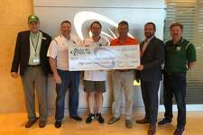 Scott Credit Union recently partnered with Glen-Ed Sports Association to finance a third turf soccer field at the new Plummer Family Park being built on Goshen Road. Pictured from left are Scott Credit Union Home Loan Advisor Eric Waltenberger, Sport Association Treasurer Chuck Hentz, Association President Mark Rimkus, City of Edwardsville Mayor Hal Patton, SCU Vice President of SBA Lending Chris Davis and Glen-Ed Sport Association Vice President Rob Landers.