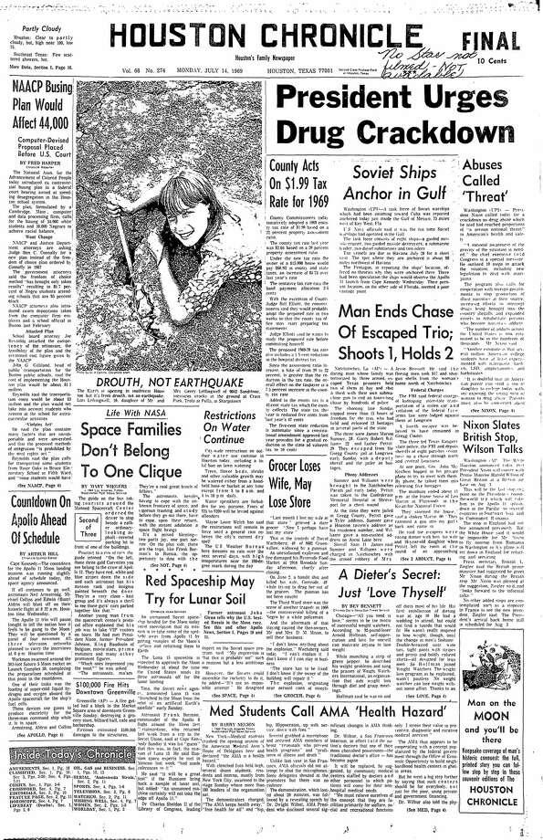 July 14, 1969 Photo: Houston Chronicle