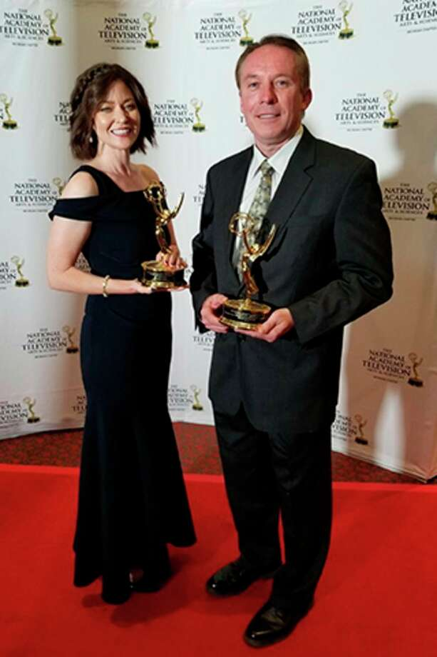 Two Delta College employees were among the Emmy Award winners at the 41st annual awards ceremony presented by the National Academy of Television Arts and Sciences - Michigan chapter, June 15 at SoundBoard Theater in Detroit. (photo provided)