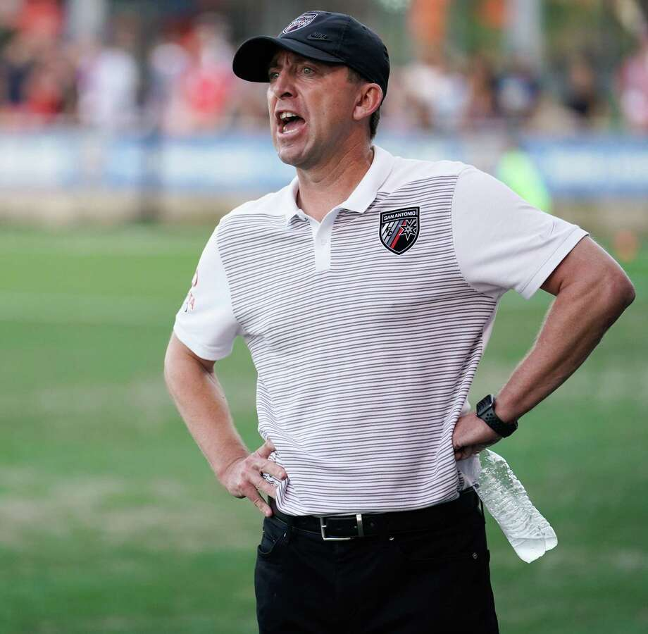 Coach Darren Powell and San Antonio FC captured their first road win of the season with Wednesday's 3-1 decision over El Paso Locomotive FC. Photo: Darren Abate /Contributor / Darren Abate Media, LLC