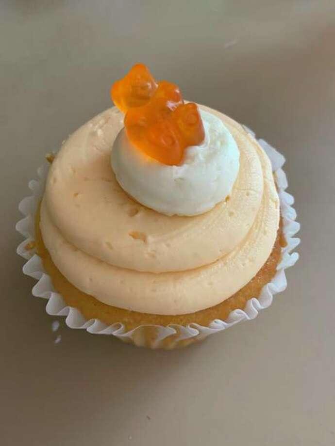 """Summer Crush"" - orange cake, orange cuttercream cream filling. Photo: Vicki Bennington|For The Edge"