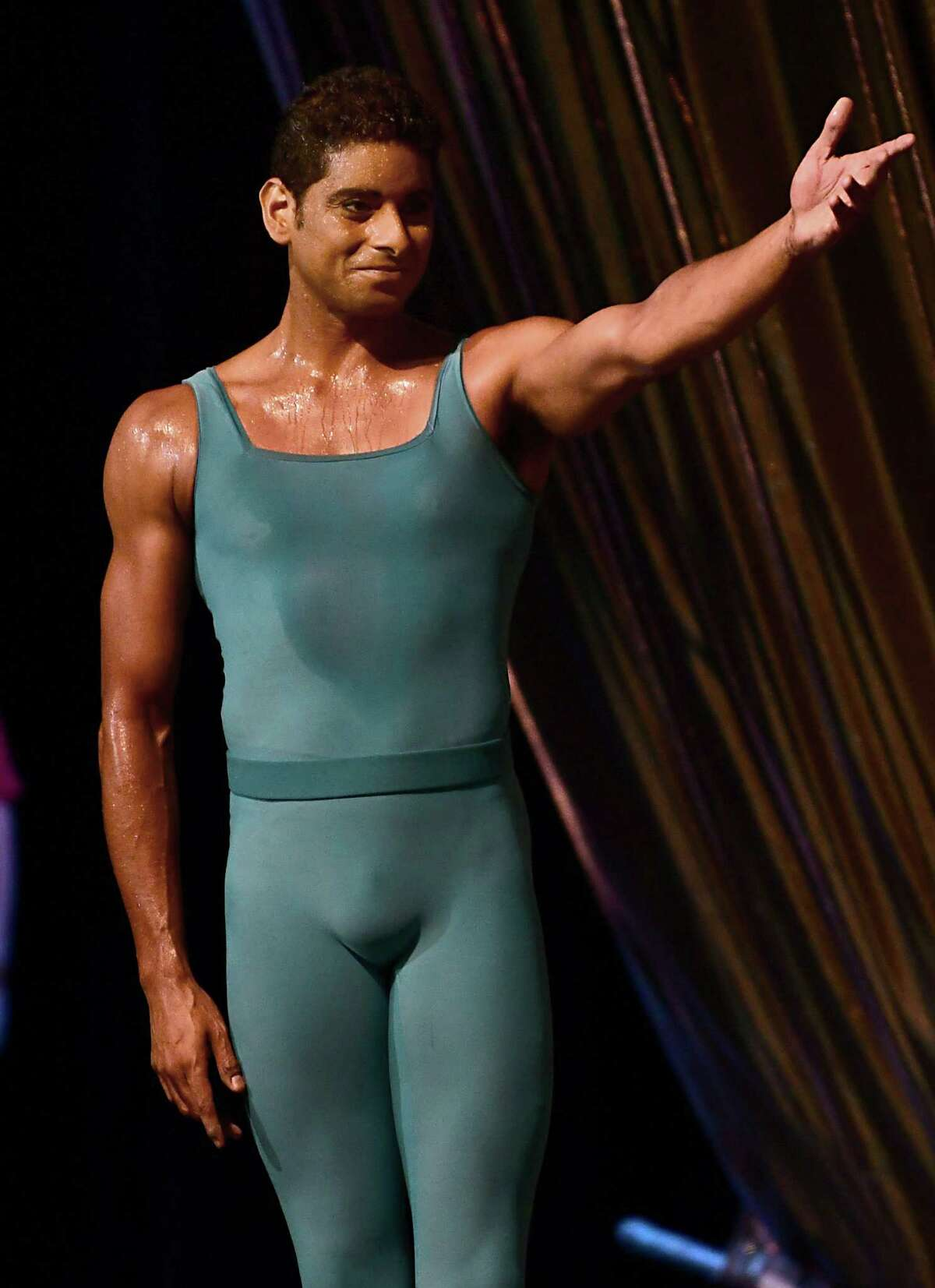 The New York City Ballet dancers perspired due to hot and humid weather at Saratoga Performing Arts Center on Wednesday, July 17, 2019 in Saratoga Springs, N.Y. (Lori Van Buren/Times Union)