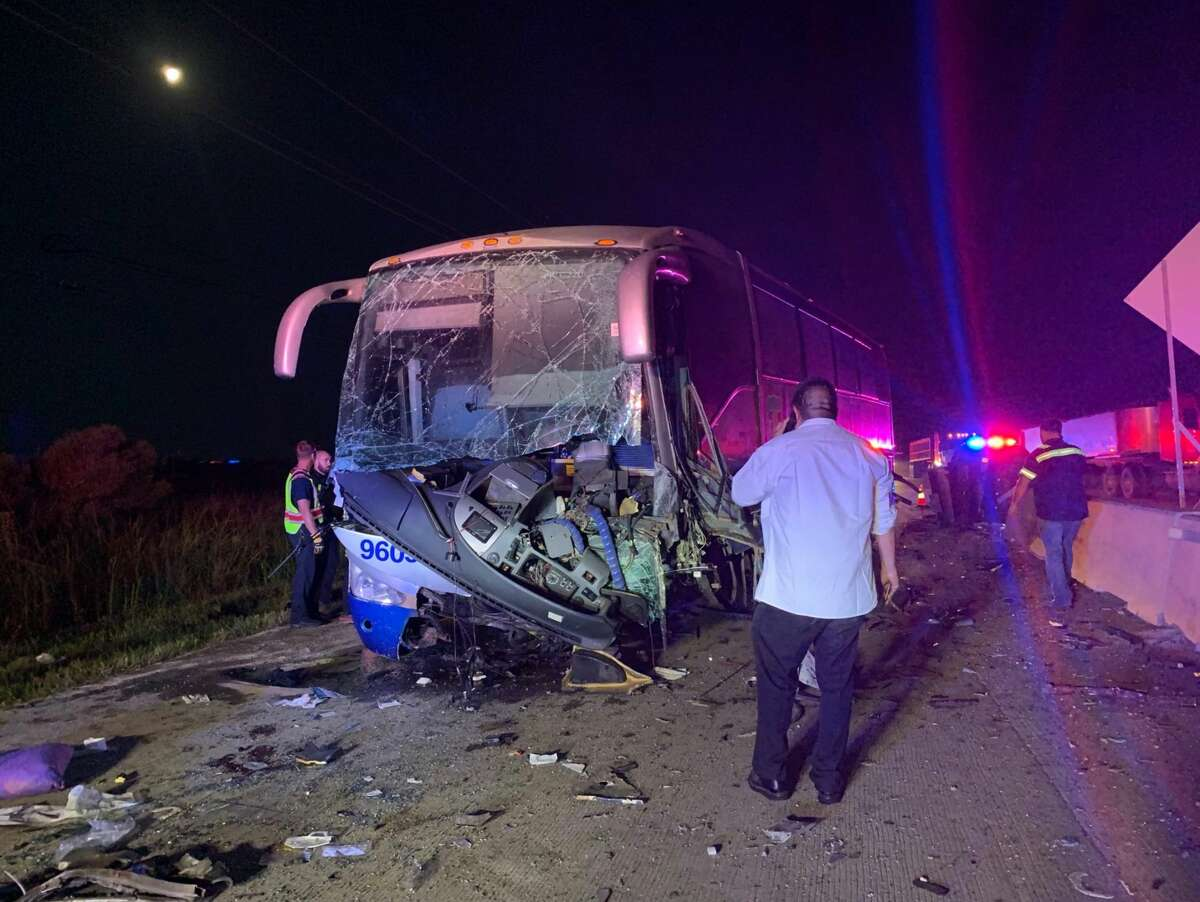 Rosenberg police investigate a crash involving a charter bus along Interstate 69 at Texas Highway 36 on Thursday, July 18, 2019. >> Click through the following gallery to see Houston's heartbreaking and deadly crashes in 2018.