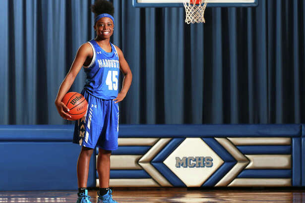 Marquette Catholic's Adrenna Snipes averaged 17.9 points per game as a freshman to earn honors as the 2018-19 Telegraph Small-Schools Girls Basketball Player of the Year.