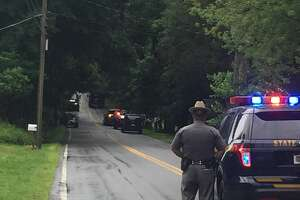 A man appears to be in State Police custody after a standoff ended Thursday morning in Schodack.