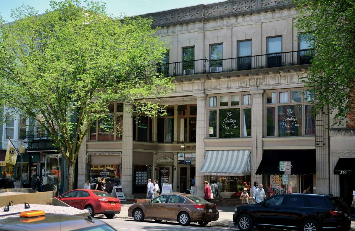 The historic Arcade building on Wednesday, June 12, 2019, on Broadway in Saratoga Springs, N.Y. (Catherine Rafferty/Times Union)