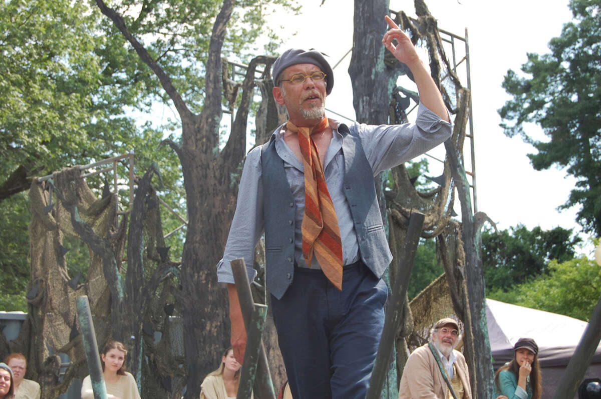 """Louis Butelli, shown in Saratoga Shakespeare Company's 2018 production of """"As You Like It,"""" will play Propsero in """"The Tempest"""" with the company this year. (Provided photo.)"""