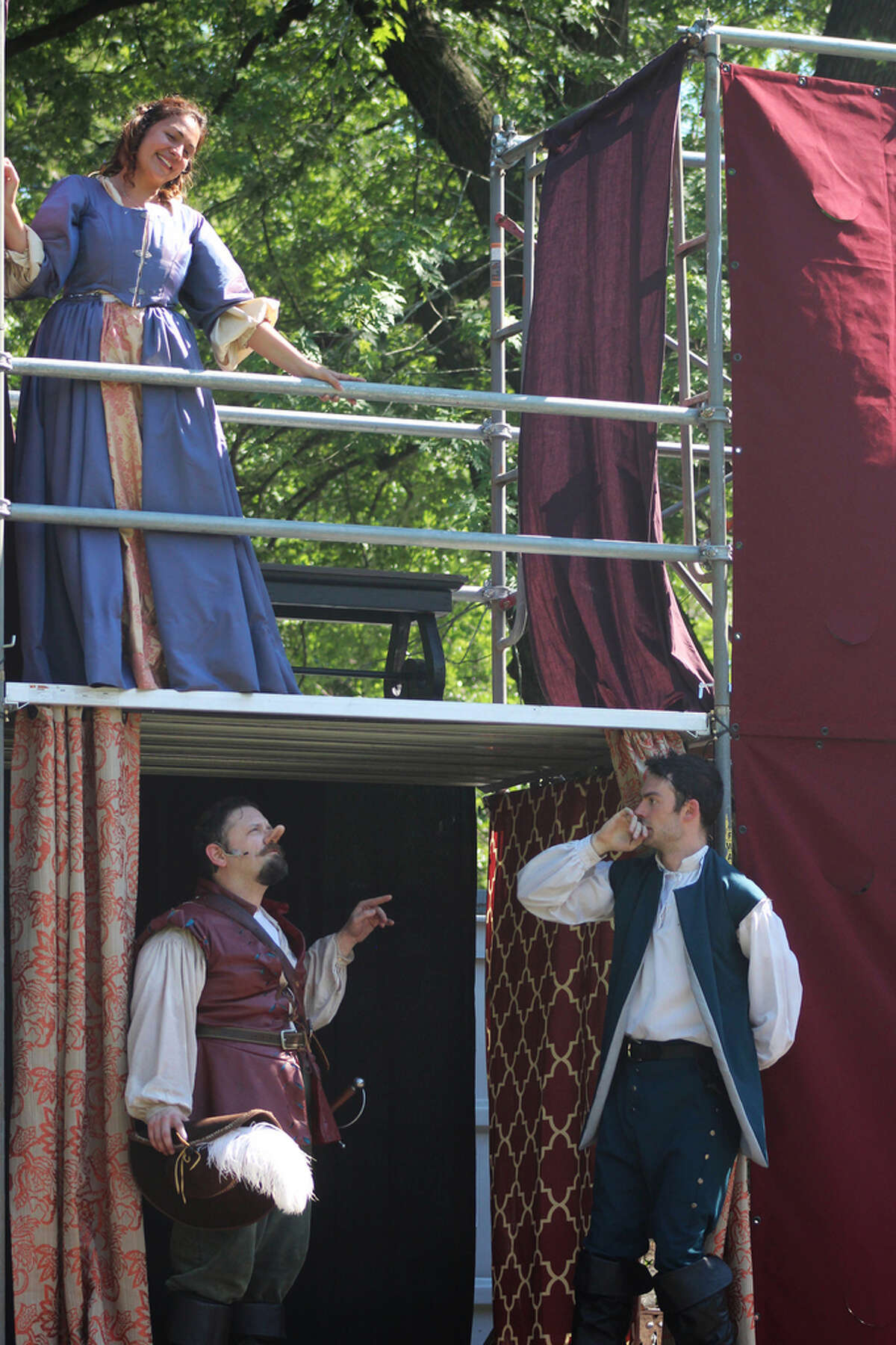 A scene from Saratoga Shakespeare Company's 2016 production of