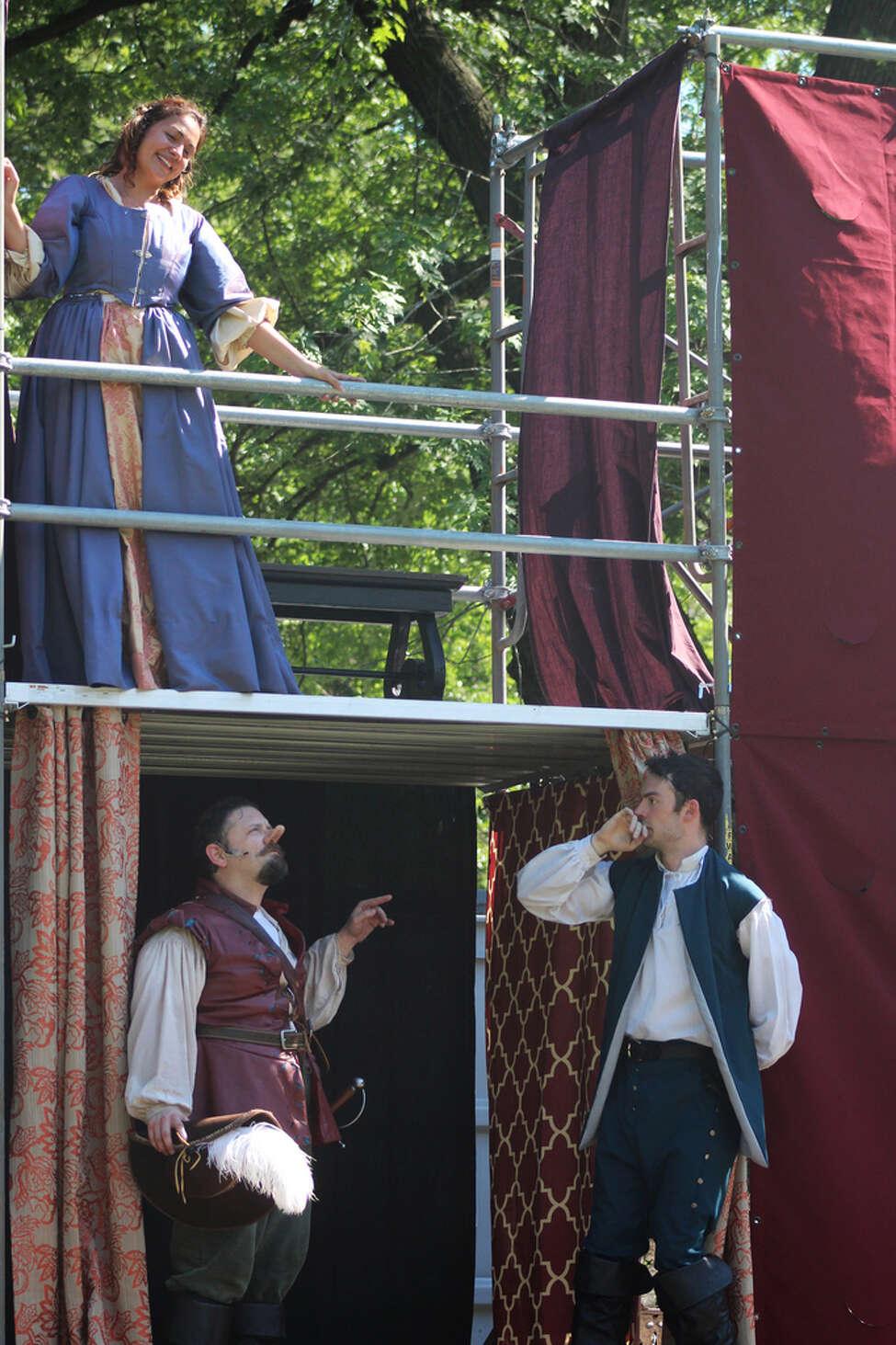 A scene from Saratoga Shakespeare Company's 2016 production of