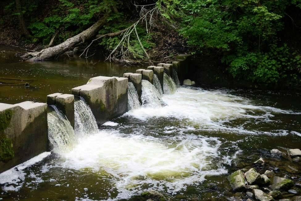 Geyser Creek flows beside Vale of Springs Trail on Tuesday, June 18, 2019, at Saratoga Spa Park in Saratoga Springs, N.Y. (Catherine Rafferty/Times Union)