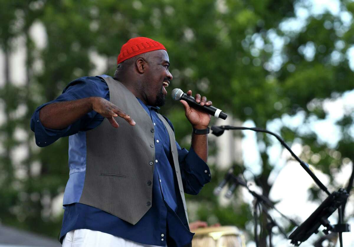 Garland Nelson and Soul Session perform at the Empire State Plaza during the 42nd annual New York State Independence Day celebration on Tuesday, July 4, 2017, in Albany, N.Y. (Will Waldron/Times Union)