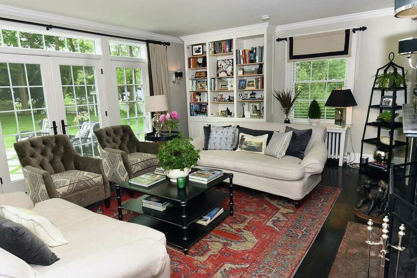 Living room in the home of Charlene Wood and James Paratore on Friday, June 14, 2019 in Saratoga Springs, N.Y. (Lori Van Buren/Times Union)