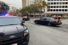 A police investigation blocked Market Street at 5th Street Thursday morning.