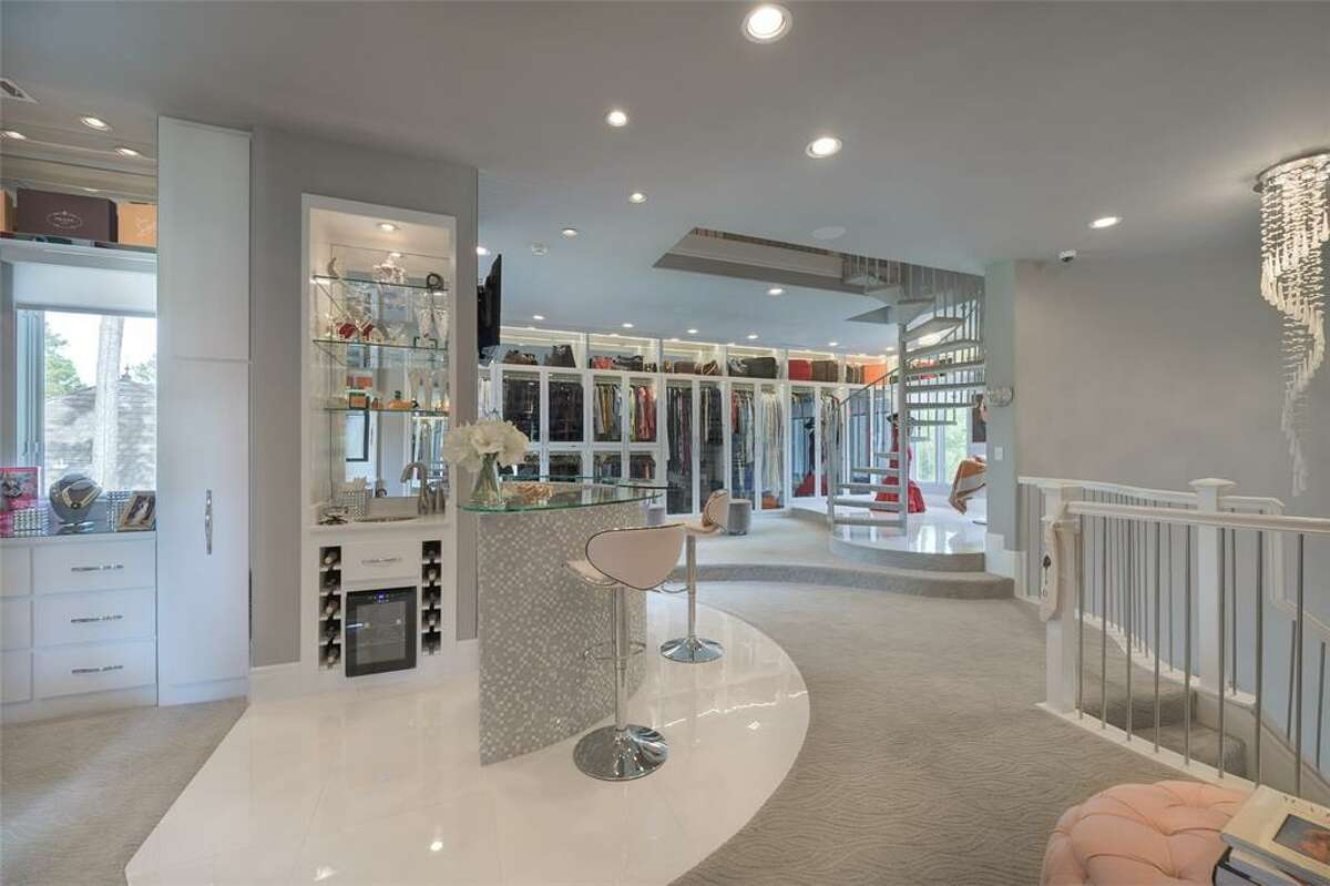 The centerpiece of the home is this three-story, 3,000-square-foot closet that reportedly cost $500,000 to build.