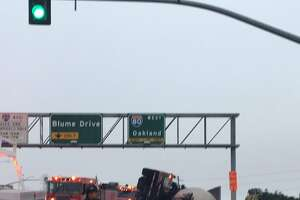 """Northbound Fitzgerald Dr between Pinole Vista Crossings and Blume Dr is closed due to an overturned big rig. No ETA for reopening the road. Please use alternate routes,"" the Pinole Police Department tweeted on Thursday morning."
