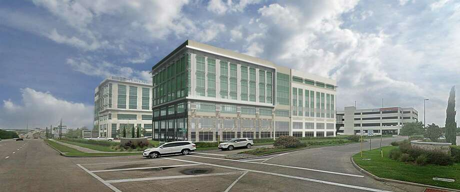Freeway Properties is developing Phase II of Katy Ranch Offices at 24279 Katy Freeway. The six-story office building will connect to the parking garage by a skywalk on the third floor. Photo: Freeway Properties