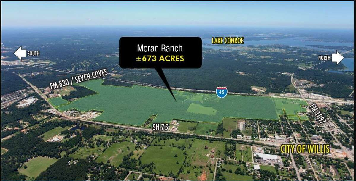 The 673-acre Moran Ranch property was put up for sale north of Houston in 2014.