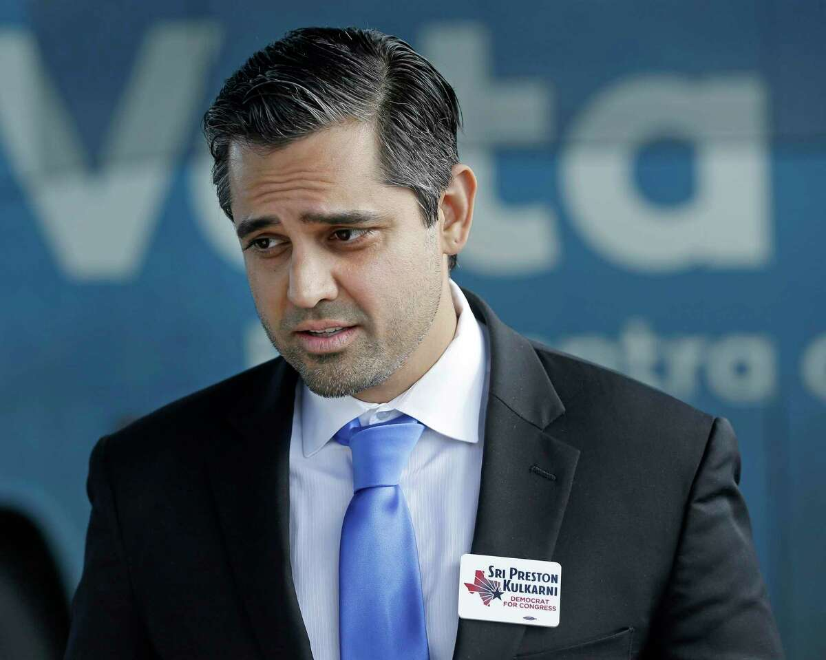 Sri Preston Kulkarni, Democratic U.S. Congressional Candidate for Texas 22nd District, is shown during an event outside the Fort Bend County Democratic Headquarters, 13515 Southwest Freeway, on Oct. 25, 2018 in Sugar Land.