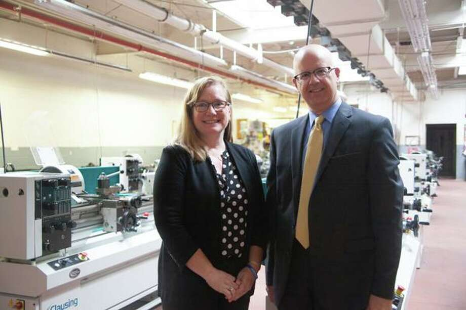 """Middlesex Community College kicked off a five-week """"Skill Up for Manufacturing"""" training program at Vinal Technical High School in Middletown July 8. Photo: Contributed Photo"""