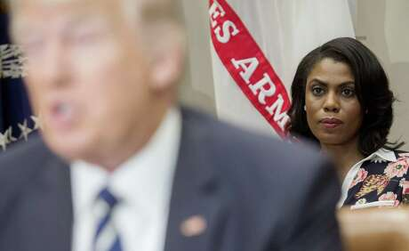 """In her 2018 book, """"Unhinged,"""" Omarosa Manigault Newman claims that Donald Trump is a racist. She was fired from her job as White House director of communications for the Office of Public Liaison in 2017."""