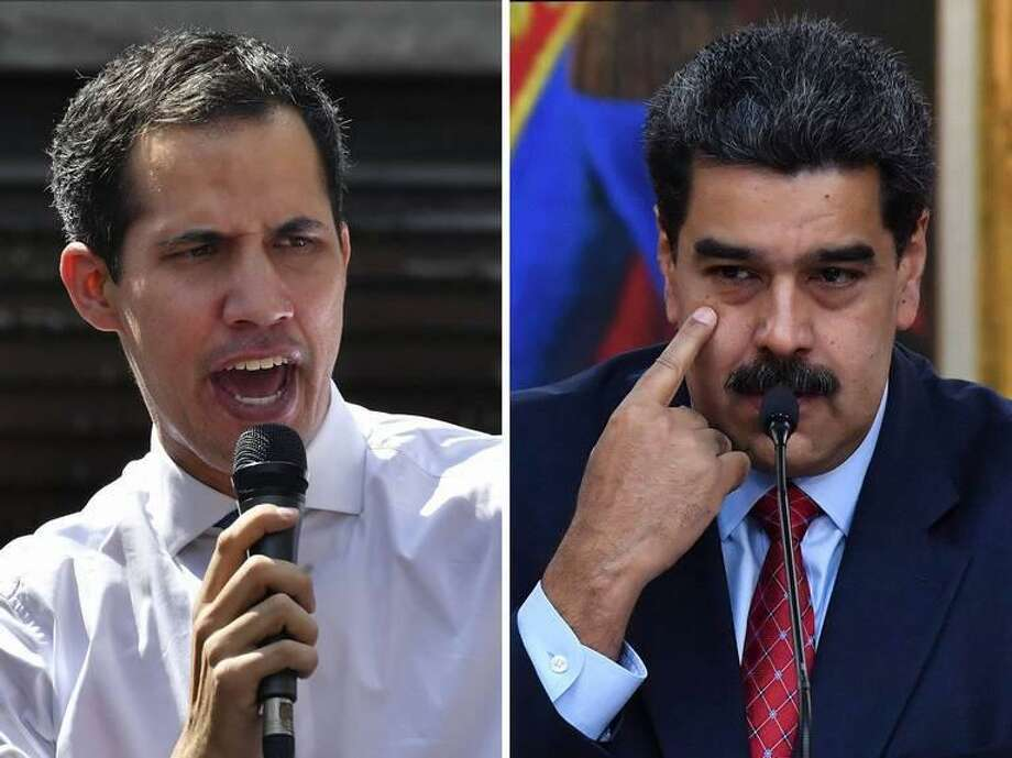 Venezuelan ppposition leader Juan Guaido and President Nicolas Maduro are battling for control of Citgo. Photo: Yuri Cortez/AFP, MBR / TNS / Getty Images North America