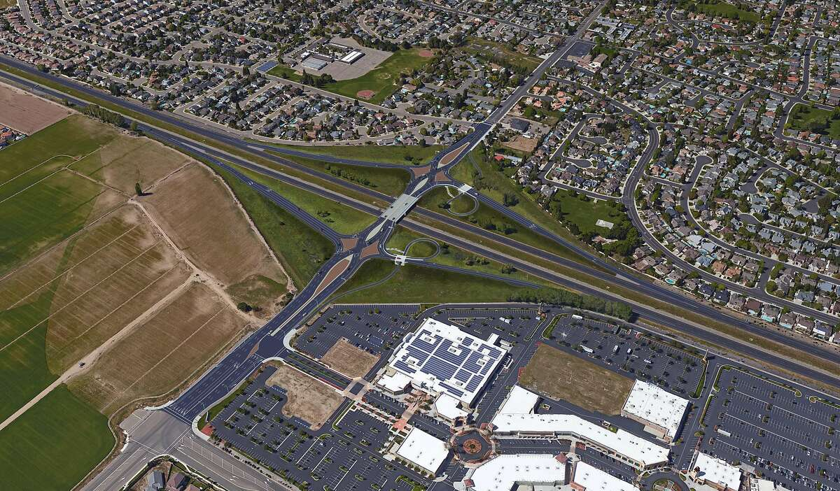 A diverging diamond interchange being built by the fall of 2020 by Highway 120 in Manteca could become an option to relieve traffic congestion around freeways across California, including Ashby Avenue in Berkeley.