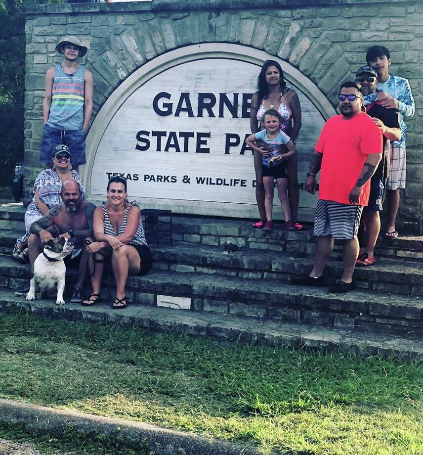 """I have always wanted to take a picture in front of the Garner State Park sign to start our own traditions,"" Davila told Chron.com. Photo: Monica Davila"